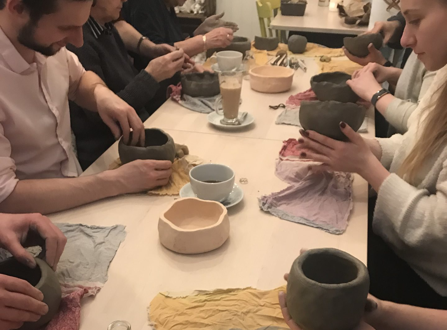 Clay pottery class